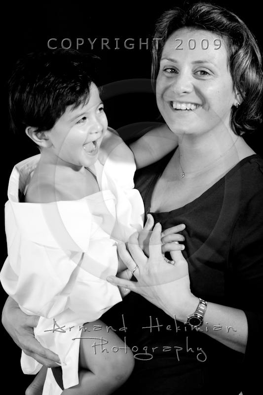 Sasha and her mom Emmanuelle